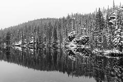 Love the Beauty of Bear Lake (pboolkah) Tags: estespark colorado unitedstates us lake bearlake rockymountains trees snow reflections water rocks soe