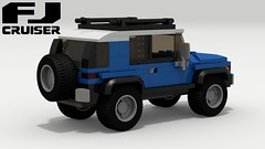 Toyota FJ Cruiser (rear view) (LegoGuyTom) Tags: toyota fj cruiser land classic vintage 2000s 2010s suv 4x4 4wd four wheel drive japanese japan offroad offroader off road roader lego legos ldd digital designer city car cars download dropbox pov povray lxf