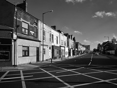Borough Road (mycoil) Tags: bw blackandwhite street deserted urban road lumix gm5 14mm middlesbrough