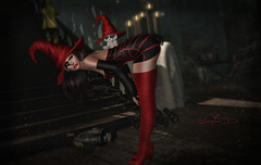 # ♥667 ~ʙᴇ ᴄᴀʀᴇғᴜʟ..ᴍʏ ᴅᴏʟʟ (sophieso.demonia) Tags: lw scandalize arcade halloween gingerfish poses huwe