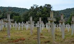 Kampor Graveyard [Kampor - 25 August 2018] (Doc. Ing.) Tags: 2018 rab croatia otokrab rabisland happyisland kvarner kvarnergulf summer mediterraneansea adriatic kampor concentrationcamp cemetery cross whitecross nikond5100