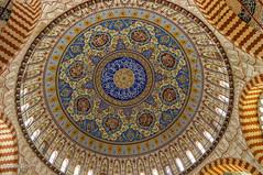 10082011-IMGP1050 (Mario Lazzarini.) Tags: cupola archi decorazioni finestre moschea camii edirne turkey turchia arte islamica architettura historic old