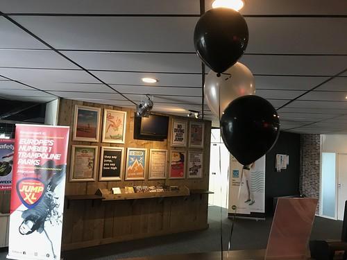 Tafeldecoratie 3ballonnen JumpXL Spijkenisse