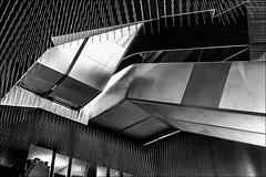La herse... / The portcullis... (vedebe) Tags: paris philharmonie escaliers escalator monument noiretblanc netb nb bw monochrome rue street ville city urbain urban urbanarte architecture