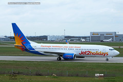 Jet2 Holidays G-JZHL taxi at London Stansted Airport April 2018 (bananamanuk79) Tags: planewatch pictures aviation airplane airport london flying flight runway air travel transport pilot avgeek airways takeoff departure flyer vehicle outdoor airliner jet jetliner flyers travelling holiday logo livery painted airplanes aicraft photos airline airliners airlines planespotter stansted londonstanstedairport stn boeing boeing737800 b737 jet2 jet2holidays jet2com gjzhl