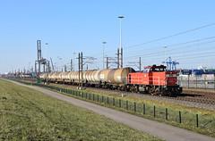 2018-02-22_6884 DBC 6437 Waalhaven Rotterdam (Peter Boot) Tags: dbc 6437 waalhaven rotterdam havenspoorlijn nederland 6400 dbc6437 dieselloc spoor spoorweg spoorwegen trein keteltrein ketelwagentrein goederentrein goederenvervoer ketelwagen 1230 methanol un1230methanol dbc6400