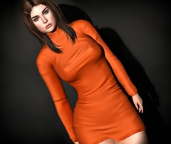 So far away but still so near... (Lori Novo) Tags: lorinovo secondlife avatar virtual blogger september nerido dress orange uberevent sintiklia hair
