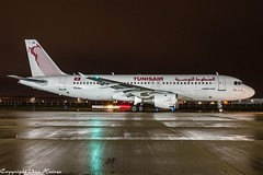 Tunisair TU-IMI HAJ at Night (U. Heinze) Tags: aircraft airlines airways airplane planespotting plane haj hannoverlangenhagenairporthaj eddv flugzeug nikon night