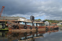 River Weaver Tug (Gerry Rudman) Tags: river weaver navigation northwich proceed pimblotts boatyard jalsea marine services belgium 1955