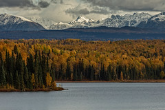 layers of colors (Paco Conesa) Tags: alaska usa autumn forest clouds range mountains snow water canon paco conesa landscape