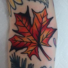 """A crunchy fall leaf (TattooForAWeek) Tags: ""a crunchy fall leaf tattooforaweek temporary tattoos wicker furniture paradise outdoor"