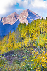 The Maroon Bells Peaks (nbalsaleh) Tags: aspen colorado fall autumn colors trial hike trees landscape d7200 wideangle photography lake september maroon bells mountains 50mm 1020mm nikon clouds leaves