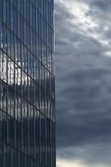 Mirror (theflyingtoaster14) Tags: wien vienna wolken himmel clouds sky skyscraper wolkenkratzer beton glas concrete glass hauptbahnhof main railway station nature technics natur technik architektur architecture panasonic lumix fz2000