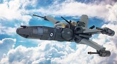 Imperial Axis Entry - Supermarine Spitfire Mk-X (Legofin.) Tags: skyfi star wars xwing warplane lego dieselpunk brickarms fighter plane