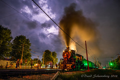 There's A Storm Coming, Part 2 (dscharen) Tags: trains lightning storms cloudtocloudlightning irm illinoisrailwaymuseum union illinois depot steamlocomotive frisco1630 1630 frisco