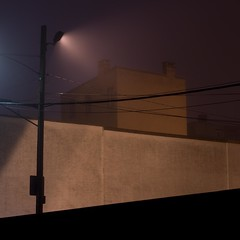Buildings in the fog - IMG_5667a (T. Brian Hager) Tags: fog foggy buildings light wires pole mist color digital city wall eastonpa easton canon canoneos7d eos 7d morning cropped square