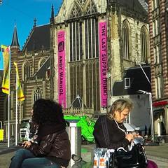 Amsterdam, Nederlands (Ulrich Scharwächter) Tags: grachten frauen hochhaus