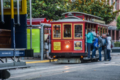 taylor street terminus (pbo31) Tags: sanfrancisco california nikon d810 color september fall 2018 boury pbo31 cablecar muni tourist taylorstreet northbeach littleitaly transit red