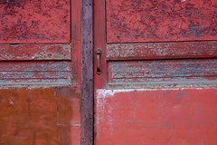 A Capital Opportunity (jtr27) Tags: dscf1835xl jtr27 fuji fujifilm xtrans xt20 xf 1855mm f284 rlmois lm ois kitlens kitzoom red door doorway weathered patina decay wabisabi abstract augusta maine capital opportunity newengland