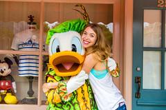 Donald Duck (EatThisLight) Tags: disney disneyland hongkong halloween donaldduck duck fall autumn smile hug meetandgreet cute costume