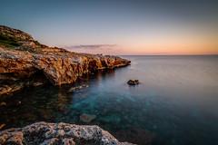 Coast (schuetz.photography) Tags: alaior balearischeinseln spanien es menorca spain sonbou sky see coast blue rocks sunset sony a7 a7rm2 a7rmii mirrorless fullframe europe batis2818