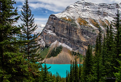 Turquoise Beauty!! (Doreen Bequary) Tags: lakelouise canadianrockies canada turquoise glacierwater glacierlake d850 mountain pine nikon2470mm