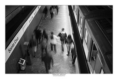 [ Landing ] (Marcos Jerlich) Tags: subway platform train station light people urban interior indoor contrast architecture lines perspective concrete bnw blackandwhite bw noiretblanc monochrome mono symmetry sãopaulo santacruz brasil october canon canont5i canon700d efs1855mm marcosjerlich