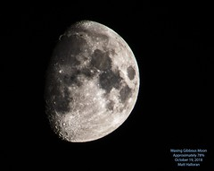 Waxing Gibbous Moon (Matt's photostream) Tags: moon luna gibbous waxing night sky astrophotography nikon d5600