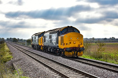 37409 + 37407 - North Fen - 24/10/18. (TRphotography04) Tags: 37407 br large logo drs 37409 lord hinton pass north fen with 0z24 1015 norwich cpt trsmd derby rtcnetwork rail
