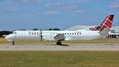 G-LGNR (AnDyMHoLdEn) Tags: loganair saab saab2000 egcc airport manchester manchesterairport