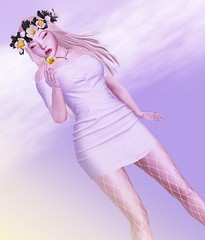 #232 Be the main character in your life (Saar Whitfield) Tags: secondlife avatar virtual 3dgirls slblog blogger tetra catwa maitreya cute white flowers photography sl gacha lode lotd ramasalon collabor88