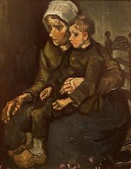 Vincent Van Gogh  (1853-1890) Mother and Child (1885) - SDMA San Diego Museum of Art (raffaele pagani) Tags: sandiegomuseumofart sdma balboapark sandiego california stati uniti unitedstates museo museum dipinti paintings canon