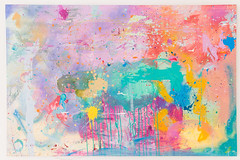 DSC_1002, 84cm x 130cm, Oils & Acrylics on Canvas, Summer  2018 (DCleggArt) Tags: painting art fine chaos colour process catharsis summer transition pastel fineart paint