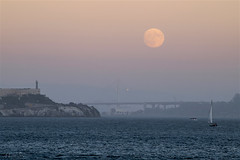 Happy Mid-Autumn Festival to Everyone (milton sun) Tags: midautumnfestival moonrise sfbay fortbaker sausalito bridge alcatraz dusk seascape bay ngc bayarea wave ocean shore seaside coast california landscape outdoor clouds sky water rock mountain rollinghills sea