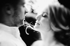 the curl (Yuliya Bahr) Tags: bokeh tiltshift kiss love together curl hair fashion beauty portrait girl woman hug intim wedding bride groom grain man blurred
