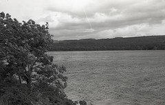 Loch Ness, Inverness, Scotland (AJH_1) Tags: kodak tmax 400 35mm olmypus om1 50mm september 2018 scotland monochrome bw blackandwhite highlands landscape