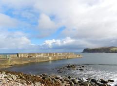 Old Portskerra Pier, Portskerra, Sutherland, Sep 2018 (allanmaciver) Tags: old portskerra pier sutherland scotland north coast concrete water rocks grey clouds weather blue sky allanmaciver