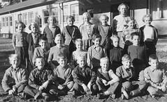 Class photo (theirhistory) Tags: boy children kids girls jumper trousers wellies boots teacher shoes shirt school class form pupils