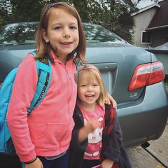 Mornings With The Munchkins (matthewkaz) Tags: madeleine norah daughter daughters child children toyota camry fall autumn home house burcham eastlansing michigan 2018