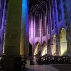 Mesure de la lumière (nahia.peschard) Tags: couvent jacobins toulouse église church néons sarkis