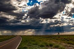 On Old Route 3, Capturing Rays Of Light. (Ramiro Francisco Campello) Tags: storm lluvia azul verde buenosaires argentina viernes friday color campo rayosdeluz rays ray sky cloud cielo nubes landscape paisaje bahiablanca ruta3vieja ruta route