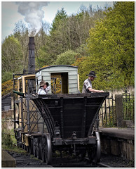 Railway maintennace team (Hugh Stanton) Tags: rocket steam track engine