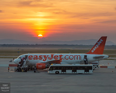 Time to go home (Tony Calvert) Tags: easyjet airbus sunset budapest hungary travel holiday