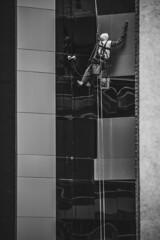 Reflejos en Días de Lluvia (II) (matiasrquiroga) Tags: black white blanco y negro architecture arquitectura monocromo monochrome simetría symmetry equilibrio city ciudad cordoba argentina street calle photography mobile phone samsung s8 contrast contraste lines building edificio reflection reflejo