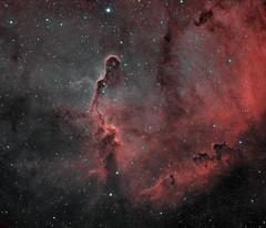 Elephant Trunk nebula in IC1396 (Beygin Astrophotography) Tags: astrophotography ic1396 elephant trunk nebula narrowband astroimaging dsrl nikon d5300 bicolor