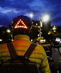 Upper Manhattan, New York (Quench Your Eyes) Tags: citibike letsglownyc ny upperwestside bicycle bikelights bikeshare fallride glowatnight harlem lumoshelmet manhattan newyork newyorkcity newyorkstate nightride nyc nycdot reflective uppermanhattan visibility
