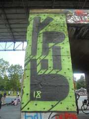 141 (en-ri) Tags: yp61 18 2018 nero verde torino wall muro graffiti writing parco dora