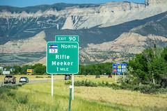 I-70 near Exit 90 (rpotluri4498) Tags: newjersey colorado rifle meeker i70 interstate highway 70 unitedstates freeway westbound west