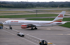 G-OOOS. Air 2000 Boeing 757-236 (Ayronautica) Tags: gooos b752 boeing757236 air2000 1992 september ringway man egcc manchester airliner scanned aviation ayronautica