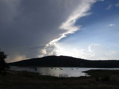 a storm is approaching (lualba) Tags: gewitter wolken see lake clouds nature alqueva grandelago monsaraz alentejo portugal